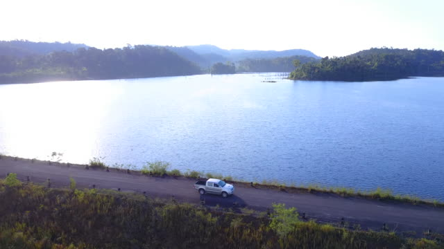 car driving along the picturesque coastal road - trat province stock videos and b-roll footage