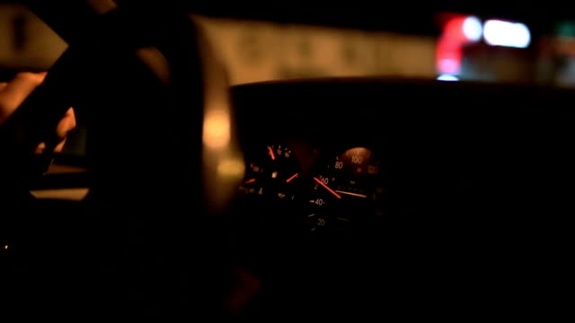 car driving at night - horseless carriage stock videos & royalty-free footage