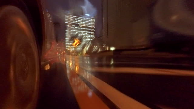 Car driving at rainy day -4K-