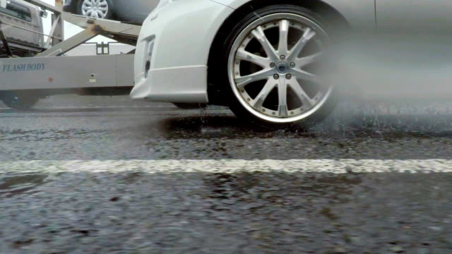 car driving at rainy day - side view stock videos & royalty-free footage