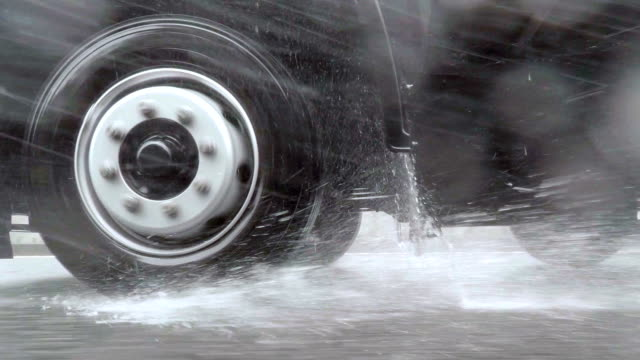 car driving at rainy day - tyre stock videos & royalty-free footage