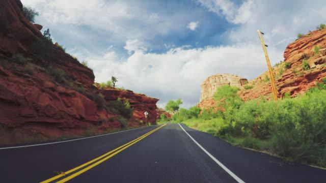 POV-Auto fahren in der scenic Byway 12 USA