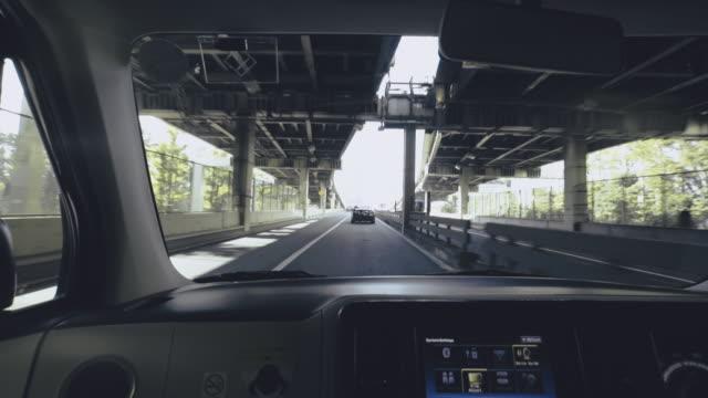 vidéos et rushes de voiture à tokyo. japon - intérieur de véhicule