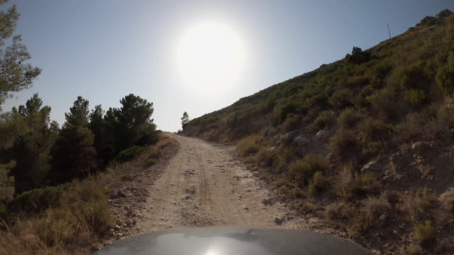 pov car driving off-road in italy: dirt roads of tuscany - 4x4 stock videos & royalty-free footage