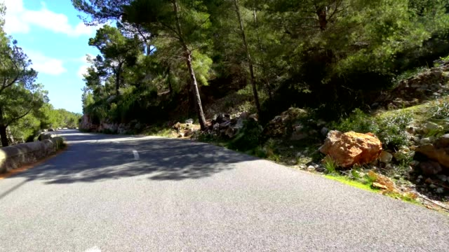 car pov: driving on a country road in majorca, spain - majorca stock videos & royalty-free footage