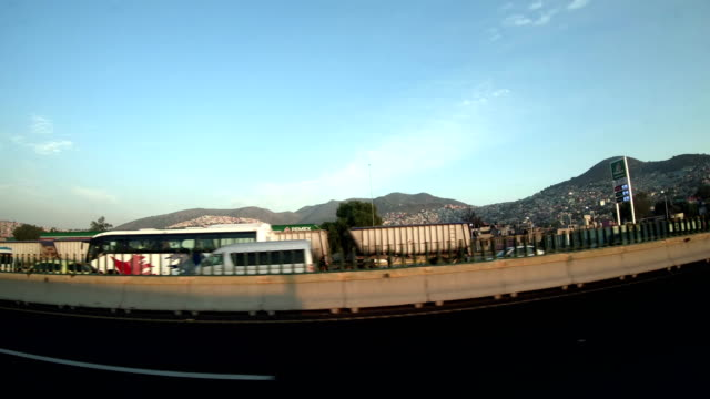 car driving on a highway in mexico - morelia video stock e b–roll