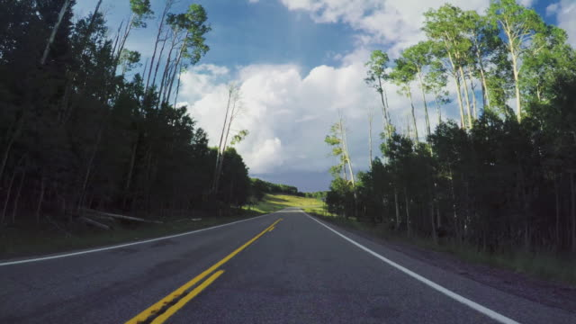 pov car driving on a mountain pass in the usa - mountain pass stock videos & royalty-free footage