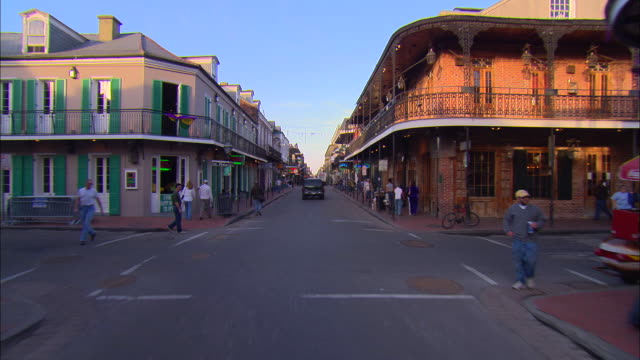 POV, Car driving on Bourbon Street, New Orleans, Louisiana, USA