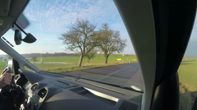 POV, Car driving on country road