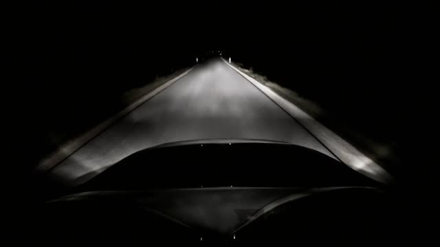 pov: car driving on road at night - country road stock videos & royalty-free footage