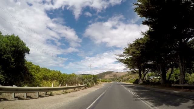 car driving on the great ocean road - great ocean road stock videos & royalty-free footage