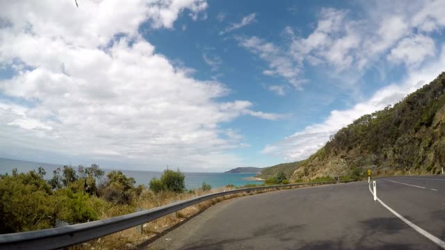 Car driving on the Great Ocean Road