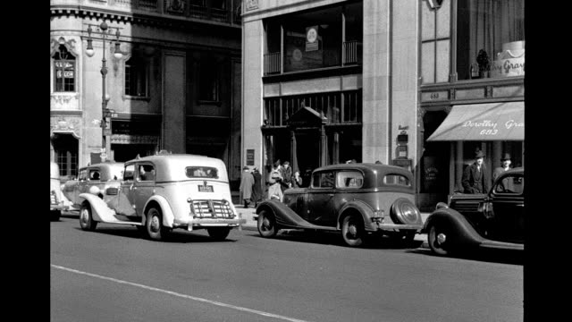 car driving south on 5th avenue from 60th street to 54th street. car driving south on 5th avenue on january 01, 1940 in new york city, new york - manhattan stock videos & royalty-free footage