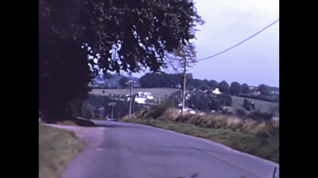 car driving pov through a rural area uk 1965 - rural scene stock videos & royalty-free footage