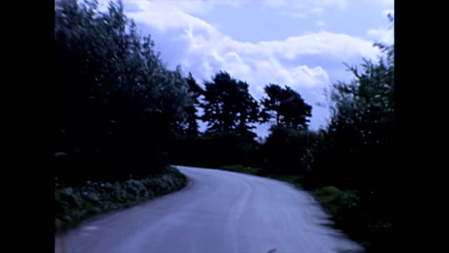 Car Driving POV through country lanes in Somerset UK 1965
