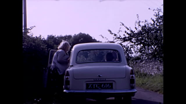car driving pov through country lanes in somerset uk following a ford prefect 1965 - perthshire stock videos & royalty-free footage