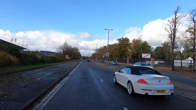 car driving through lanarkshire - bare tree stock videos & royalty-free footage