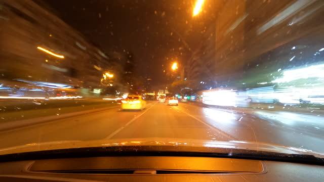pov car driving - digital camcorder stock videos & royalty-free footage