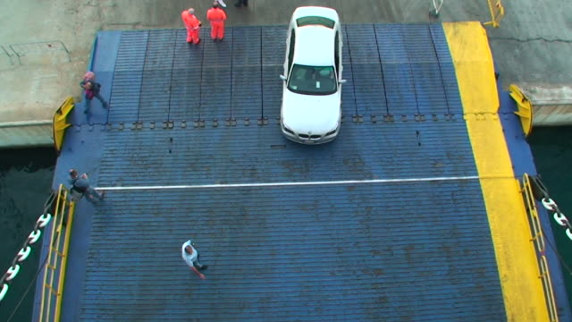 car embarking on a ferry-boat - ferry stock videos & royalty-free footage