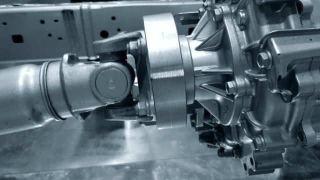 car engine and gear pulley moving to drive wheel shaft. - piston stock videos & royalty-free footage