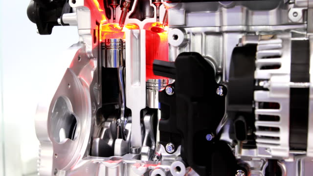 car engine cylinder piston movement - hydrogen stock videos & royalty-free footage