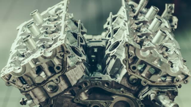 V8 Car Engine Repair. 4k Time Lapse Video