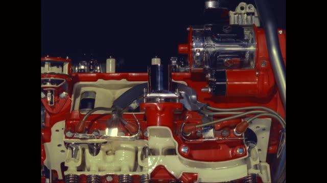 cu car engine / united states - 永久運動点の映像素材/bロール