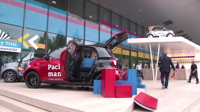 car enthusiasts and professionals are headed to frankfurt this week to the iaa auto show as the industry emerges out of long crisis in europe but... - handelsmesse stock-videos und b-roll-filmmaterial