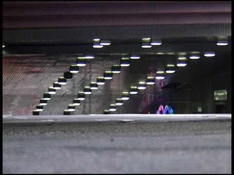 car exiting tunnel - letterbox format bildbanksvideor och videomaterial från bakom kulisserna
