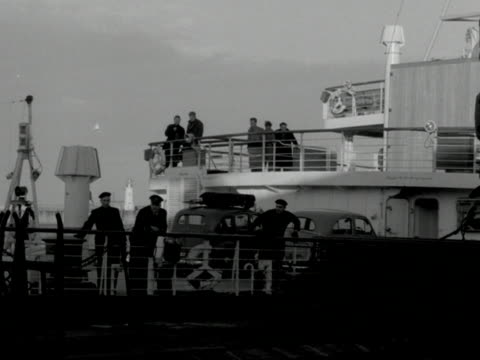 a car ferry arrives at the port of dover - ferry stock videos & royalty-free footage
