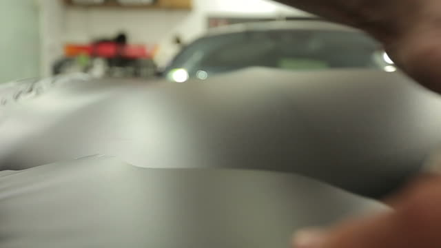 car foil wrapping - scratched stock videos & royalty-free footage