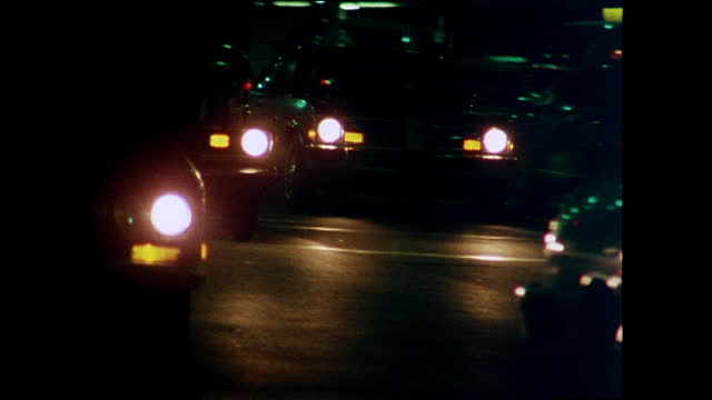 car headlights come into focus at night; 1978 - west hollywood stock videos & royalty-free footage