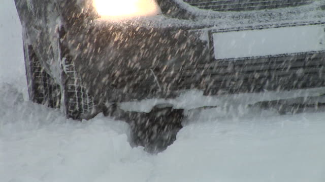 hd: car in the snowstorm - headlight stock videos & royalty-free footage