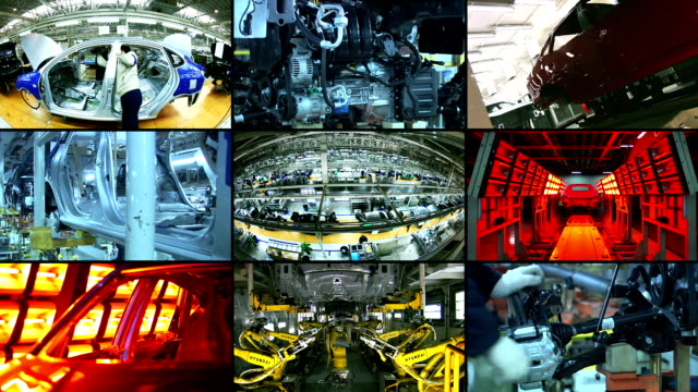 industria automobilistica, automobili - automobile industry video stock e b–roll