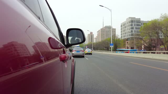 car is driving on the main road in beijing - real time stock videos & royalty-free footage
