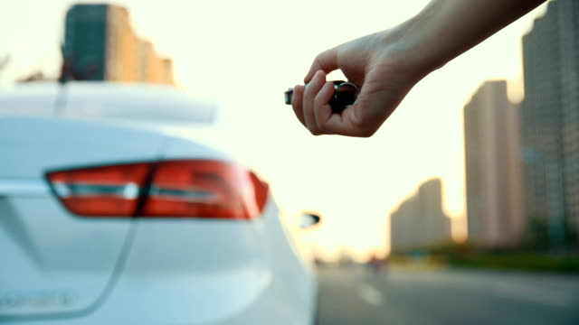car key start a car - remote control stock videos & royalty-free footage