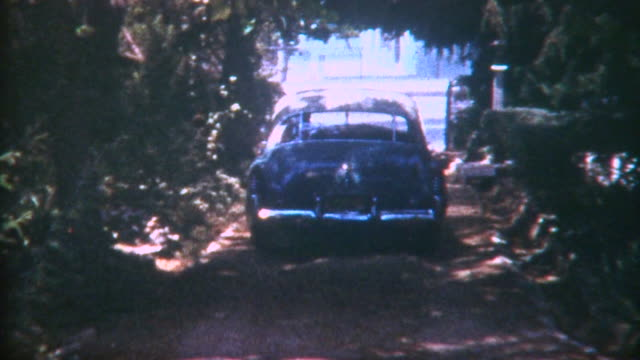car leaves home 1950 - pasadena california stock videos and b-roll footage