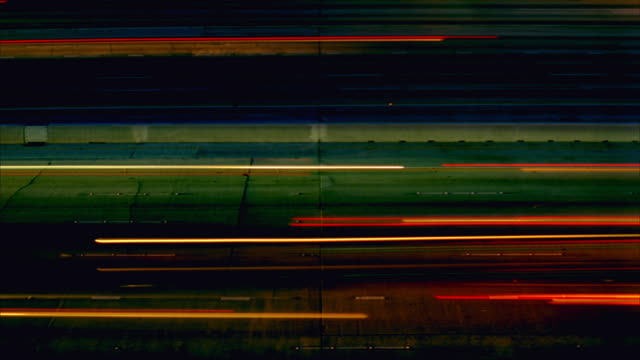 t/l, ws, ha, car light trails on freeway at night, abstract, los angeles, california, usa - traffic time lapse stock videos & royalty-free footage