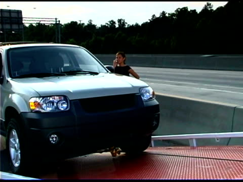 car loading on ramp - tow truck stock videos and b-roll footage