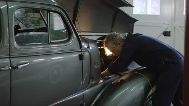 car maintenance - vintage car stock videos & royalty-free footage