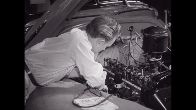 ms car mechanic repairing car engine / united states - piston stock videos & royalty-free footage