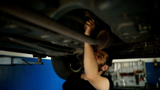 car mechanic working at workshop - repair garage stock videos & royalty-free footage