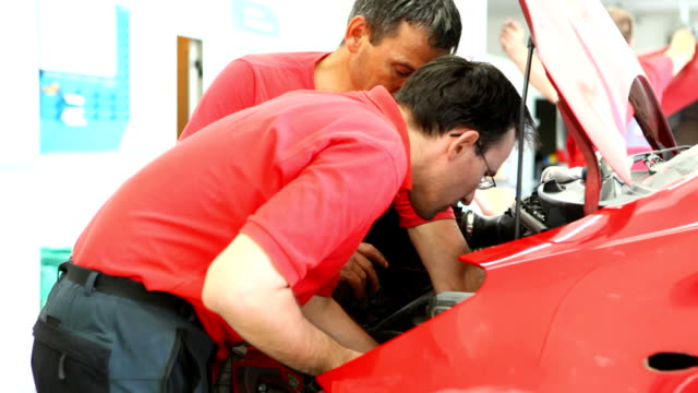 Car mechanics.