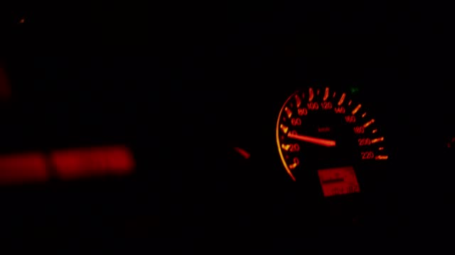 car miles while cars move at night. - accelerator pedal stock videos & royalty-free footage