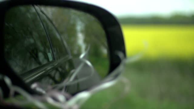 car mirror slowmotion - natural land state stock videos & royalty-free footage