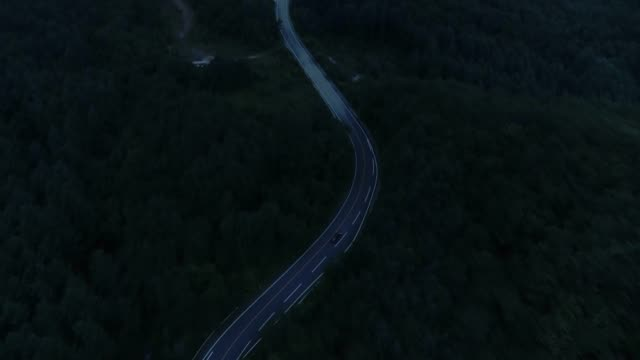 a car moving along a mountain road at night / hwacheon-gun, gangwon-do, south korea - ridge stock videos & royalty-free footage
