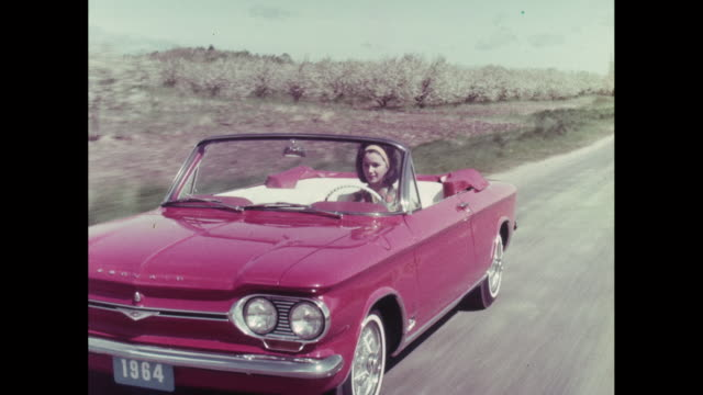 ms pov zo car moving on road / united states - 1964 stock videos and b-roll footage