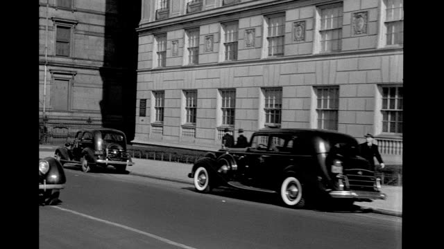 Car POV moving south on 5th Avenue on January 01 1938 in New York City New York