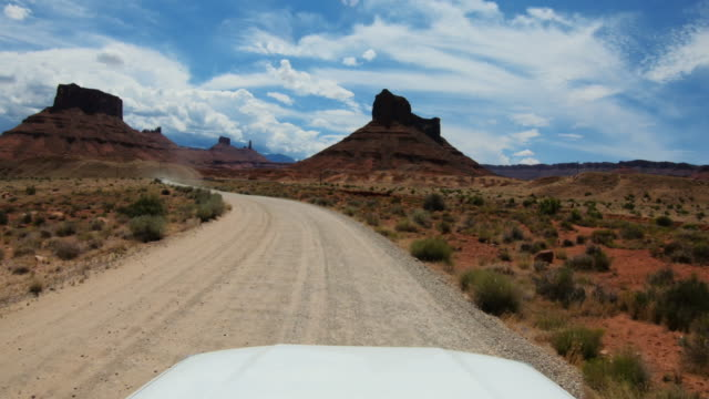 pov car off-road driving in usa southwest - canyonlands national park stock videos & royalty-free footage
