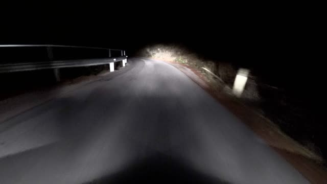 stockvideo's en b-roll-footage met auto pov: op een oostenrijkse bergweg bij nacht - oostenrijkse cultuur